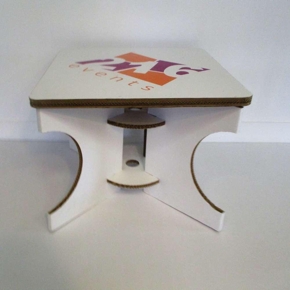 Carrée Blanc Basse Avec Du Table Impression Plateau Carton 0wX8PkNnO