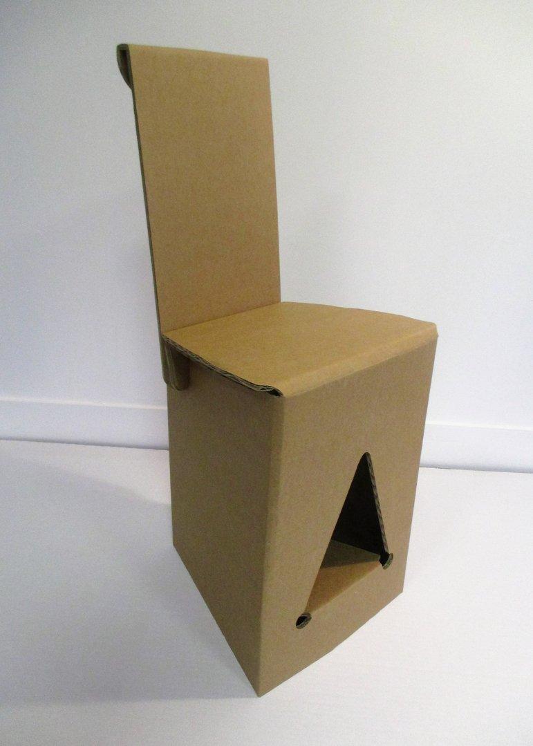 Chaise En Carton Kraft