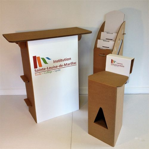Pack Stand Carton Kraft Plateau Rectangle Personnalisé